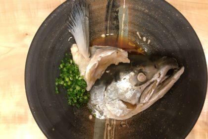 本鱒塩蒸しポン酢