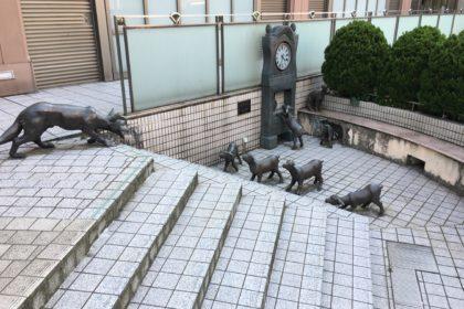 オオカミと7匹の子ヤギ像